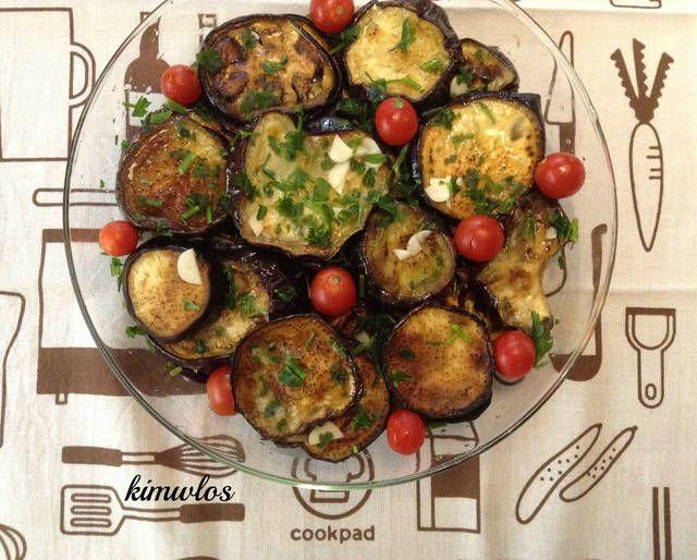 Μελιτζάνες με λαδόξυδο και σκόρδο #cookpadgreece #melitzanes