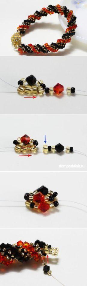 Браслет — жгут из бисера | Handmade