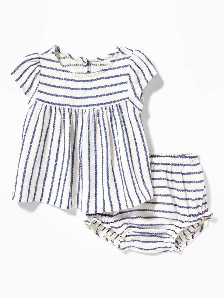 0ab60e905 Linen-Blend Top & Bloomers Set for Baby | Kids Fashion ♡ | Old navy ...