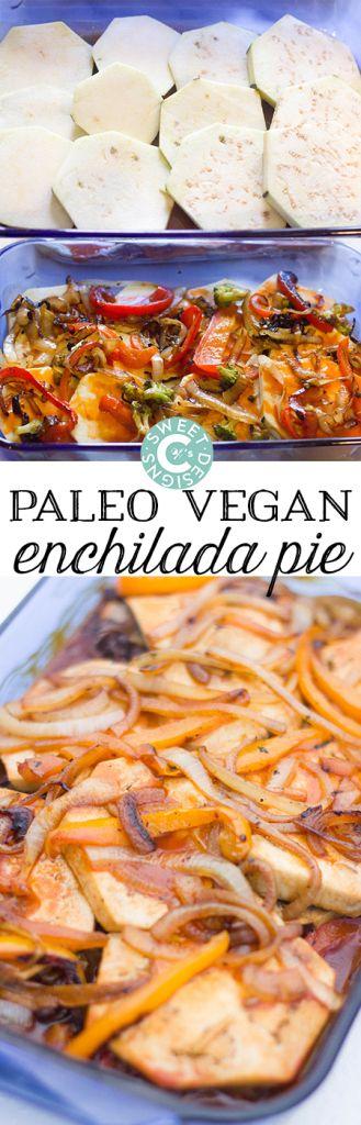 Paleo vegan enchilada pie- a delicious filling dish that is deceptively low calorie