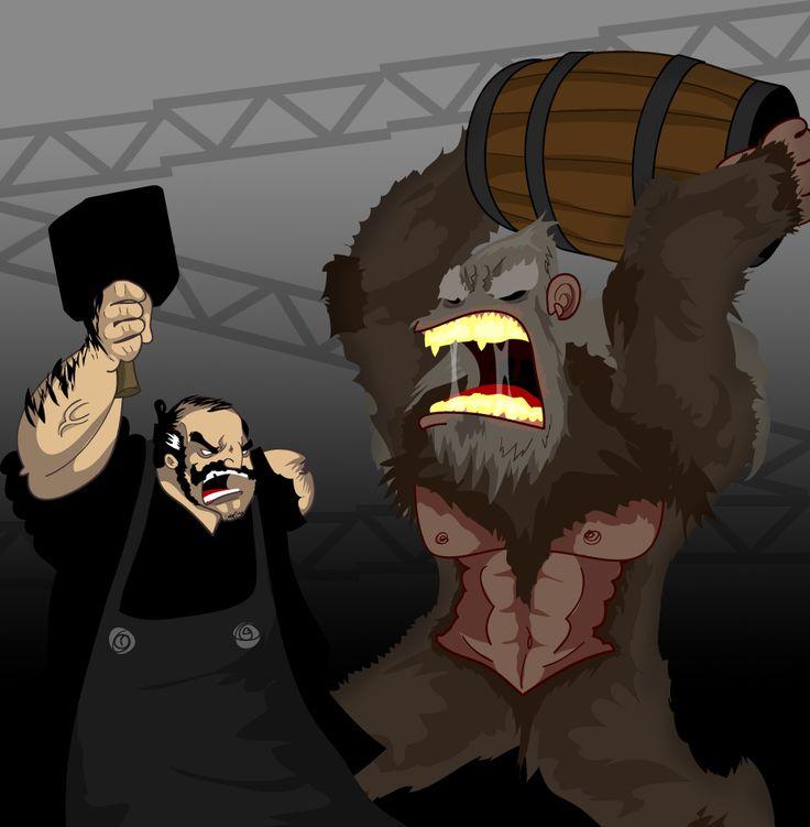 Donal Noye v Mag the Mighty by Sir-Heartsalot.deviantart.com on @deviantART