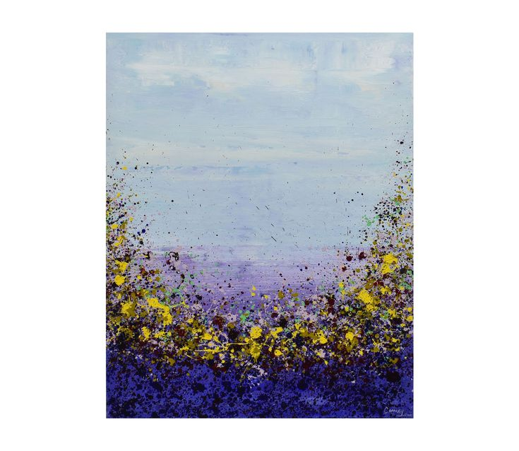 """""""Purple Garden"""" has been fetured in the """"New Works for the New Year"""" on Rise Art. @lisacarneyart #floralart #abstract #purple #riseart"""