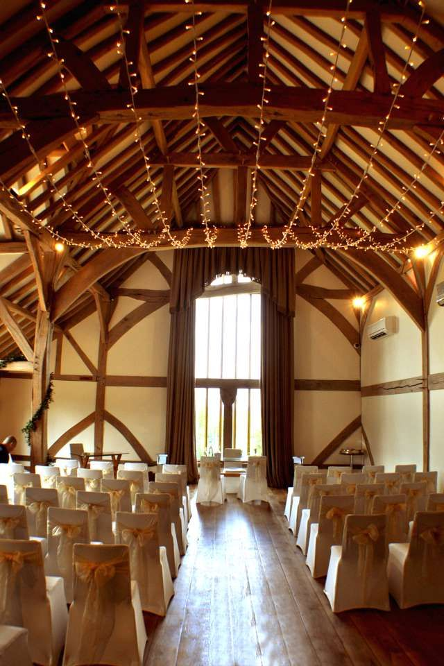 Our fairy light canopy in the simply stunning Cain Manor ballroom #wedding #lighting