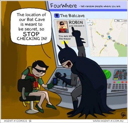 Batman on Foursquare