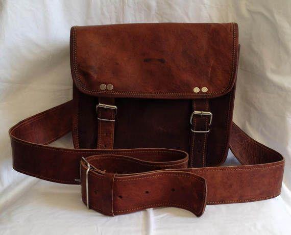 New Smaller Size Genuine Leather Brown Satchel Shoulder Bag
