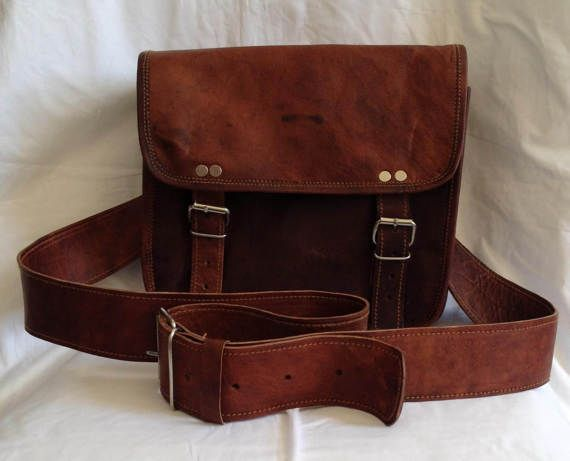 New Smaller Size Genuine Leather Brown Satchel Shoulder Bag