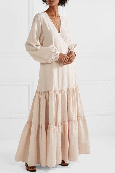 1997dfbbe0 MATIN | Tiered cotton and linen-blend voile wrap maxi dress |  NET-A-PORTER.COM