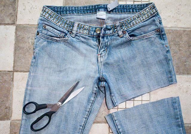 Как обрезать джинсы на шорты