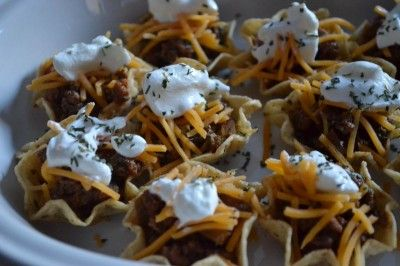 Mini Taco bowls-okay that is just tooo cute-kids would love this!