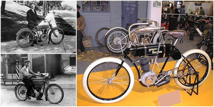 "Childhood friends William Harley & Arthur Davidson designed their first ""motor-bicycle"" in 1903"