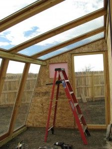 8X12 greenhouse from discarded patio doors
