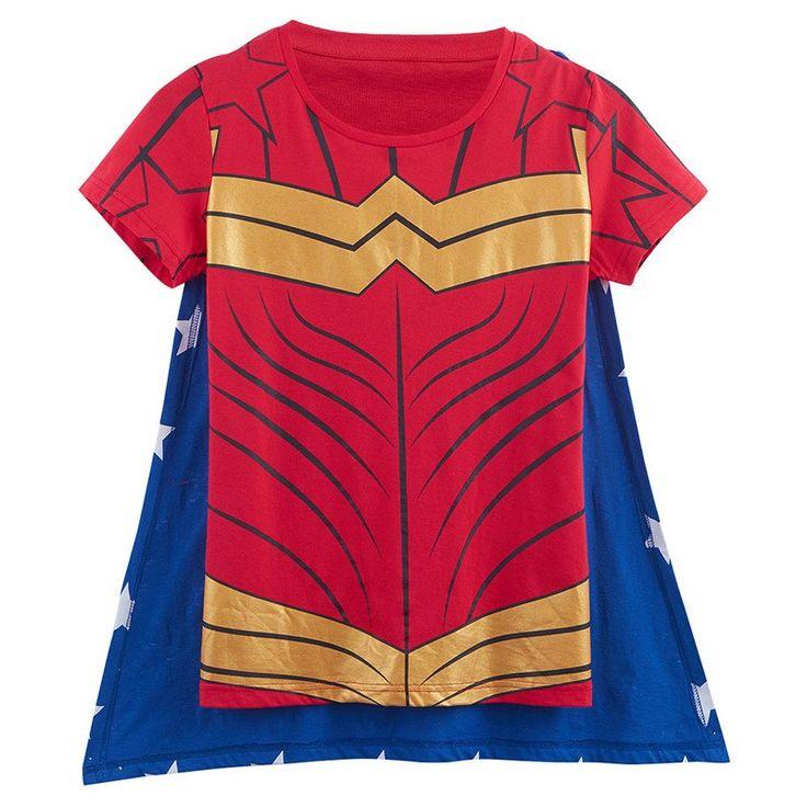 Wonder Woman T Shirt With Cape – Superhero Universe