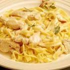 Foto de la receta: Fetuccini con crema de pollo y champiñones