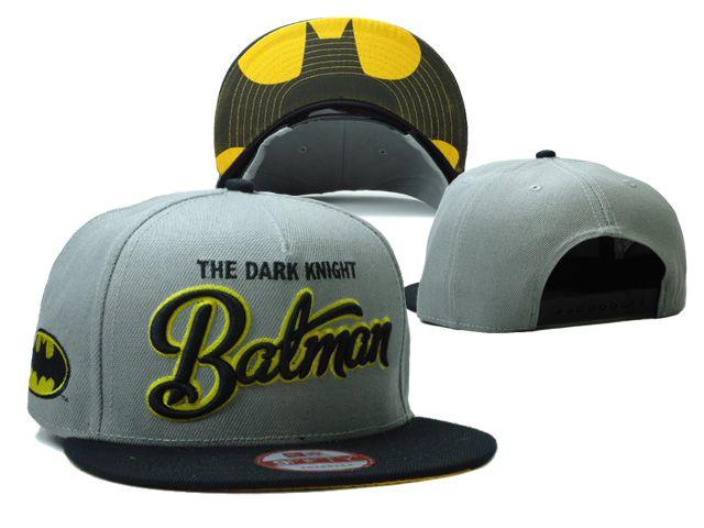 The Dark Knight Batman Snapbacks Hats Gray f96d72f8b87ed