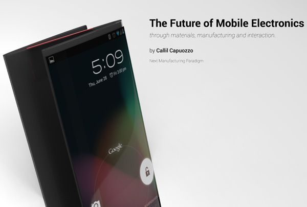 'The Future Of Mobile Computing' by Callil Capuozzo is a conceptual exploration of potential applications of future flexible technology.
