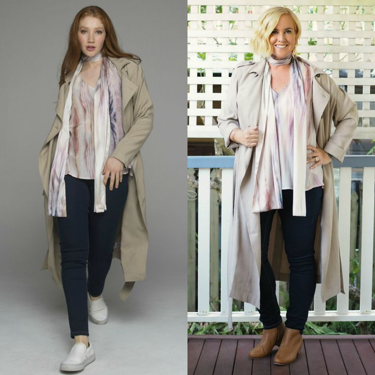 Beech & Bird from Punch Park by Styling You. Trench coat, pastel top, jeans and ankle boots outfit
