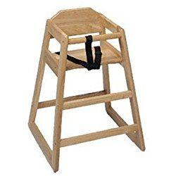 Update International WD-HCA High Chair Natural (Assembled)