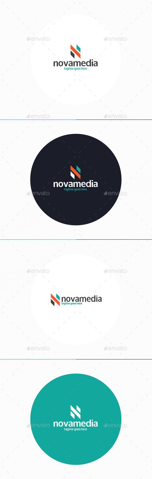 Nova Media Logo u2022 Letter N 60
