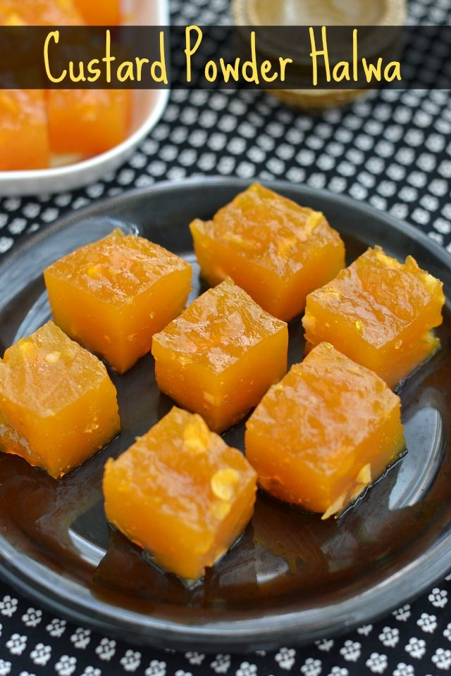 Custard Powder Halwa Recipe with easy step by step images perfect and foolproof that even for beginners can try without hesitation for Diwali.
