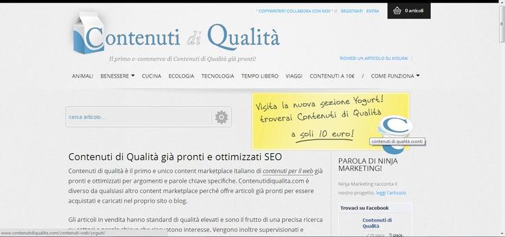 Realizzazione di articoli per www.contenutidiqualita.com