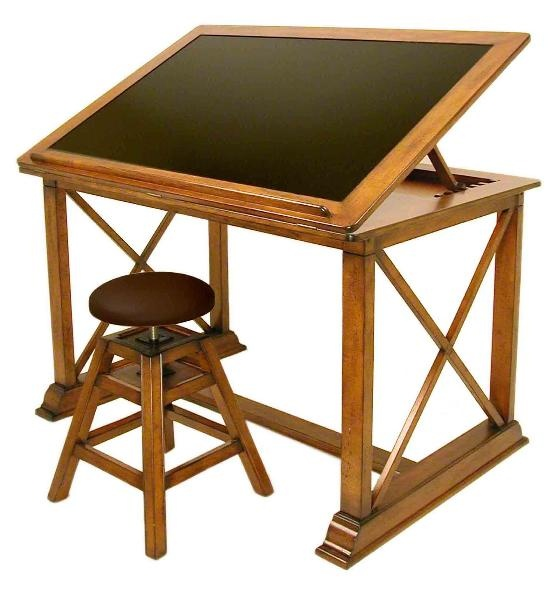 Drawing Table With Optional Stool