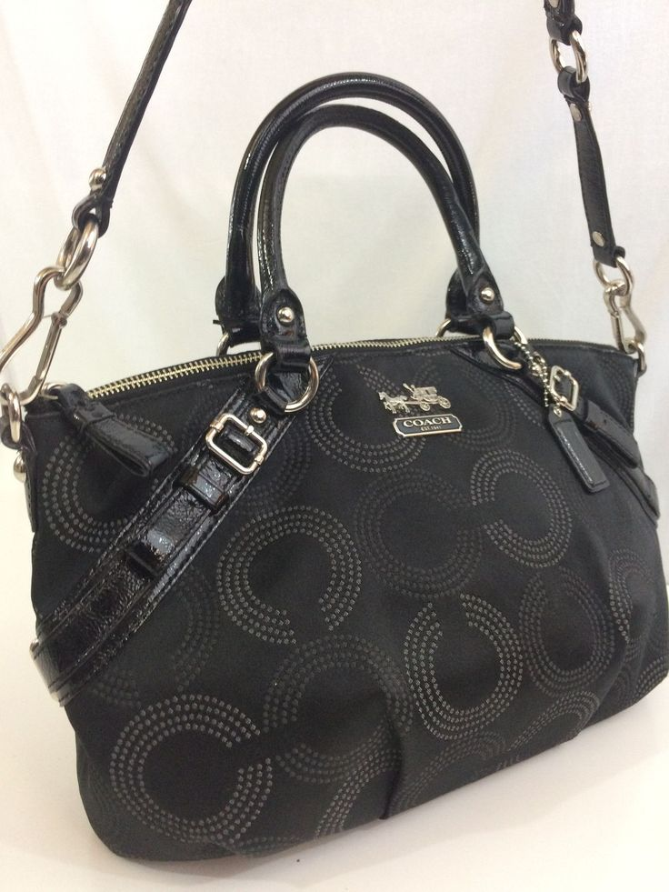 Black Coach Satchel Purse