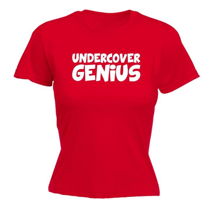 123t USA Women's Undercover Genius Funny T-Shirt