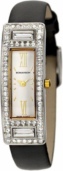 Romanson Women's RL7244TL1CA11G Swiss Quartz Watch with Swarovski Elements