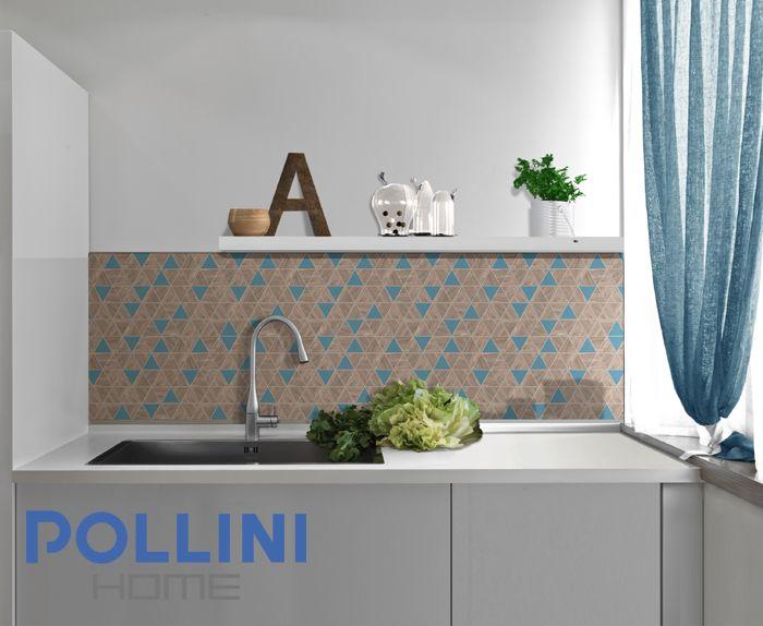 #ceramic #kitchen with #mosaic | #cucina in #ceramica con #mosaico colorato