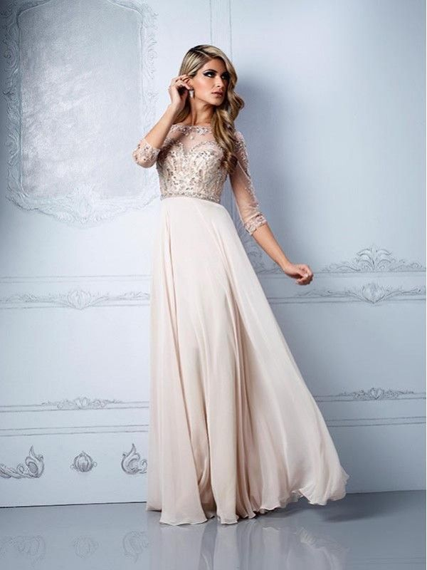 Cream Colored Evening Dress