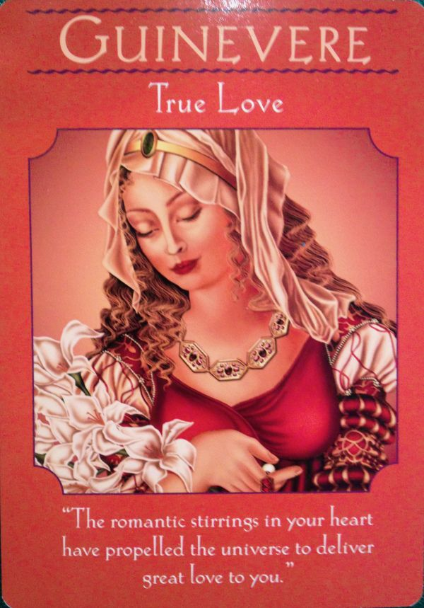 from the Goddess Guidance Oracle Card deck, by Doreen Virtue,