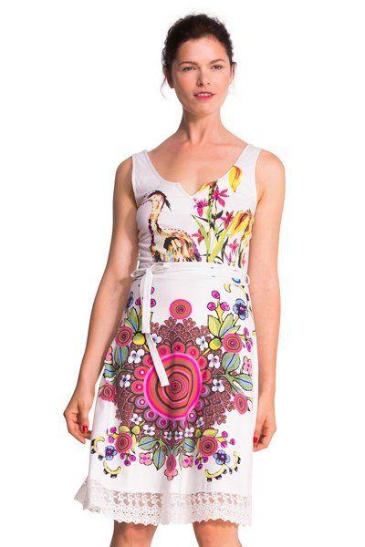 Vestido de tirantes Desigual con encaje modelo Bibi. ¡Haz que te regalen piropos! Envío gratis a tu tienda Desigual.