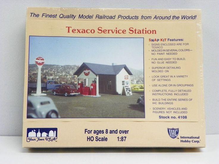 "I.H.C. HO U/A ""TEXACO SERVICE STATION""  PLASTIC MODEL KIT #HOSCALEIHCPLASTICMODELKIT"