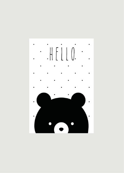 """Bilder - Kunstdruck / Baby / Kids Print """"Teddy der Bär"""" - ein Designerstück von TypicalMe bei DaWanda"""