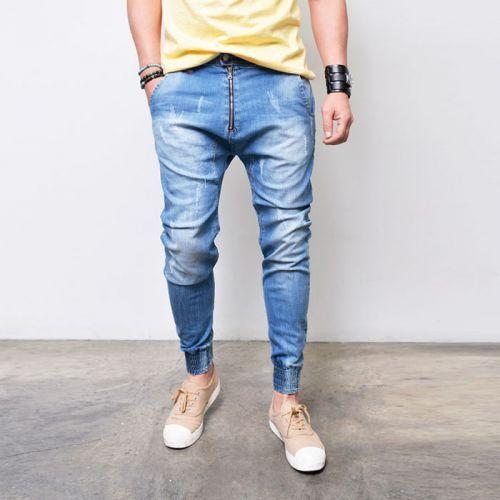 Vertical Front Zip Slim Baggy Jogger-Jeans 291 via SNEAKERJEANS STREETWEAR SHOP