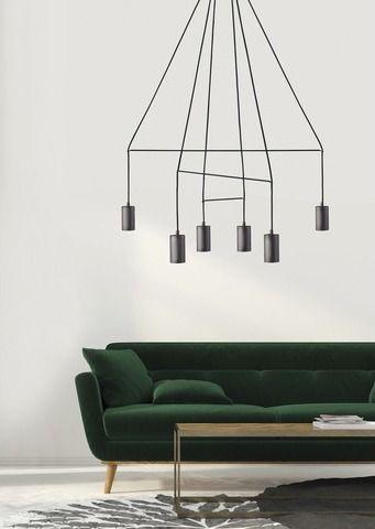 Φωτιστικό κρεμαστό, εξάφωτο, σε μοντέρνο στυλ, κατασκευασμένο από ατσάλι σε μαύρο χρώμα και πλεγμένο καλώδιο. Σειρά Imbria Black από την Nowodvorski. ----------------------------------------- Pendant luminaire, in modern style, made of black steel and braided cable. #lighting #light #lightingdesign #modern #modernlighting #modernstyle #nowodvorski #livingroom #homedecor #livingroomideas #design #moderndesign #livingroomdecor #ideas