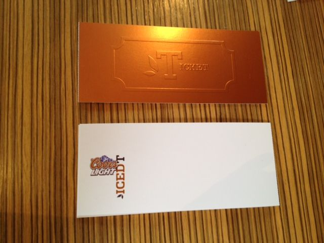 Coors Light Iced-T Launch event invitations