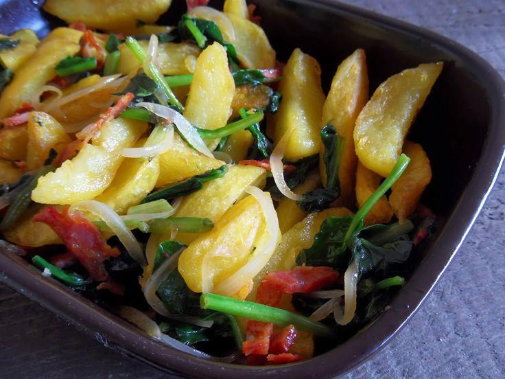 Batatas com espinafres delux