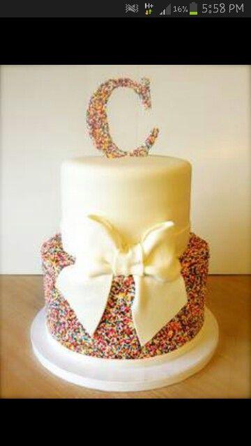 Simple sprinkles cake