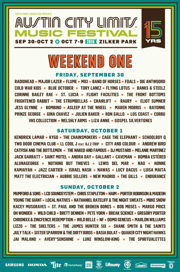 The 2016 Lineup is out and Tickets are on sale now!