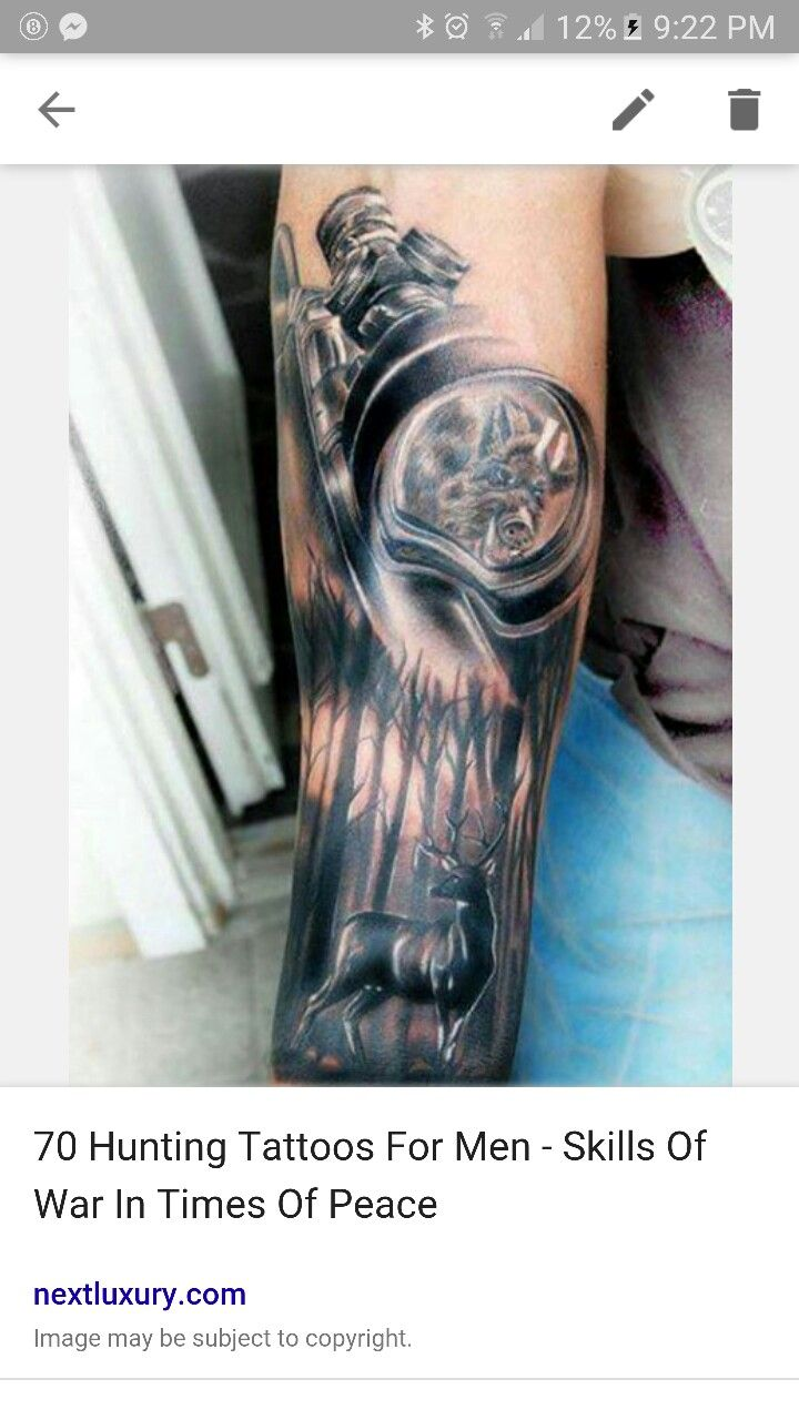 Route 66 tattoo picture at checkoutmyink com - Rife Scope Hunting Men S Tattoos On Forearm