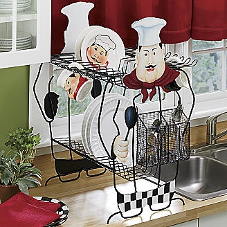 Chefs Dish Drainer Chef Kitchen Decorbistro