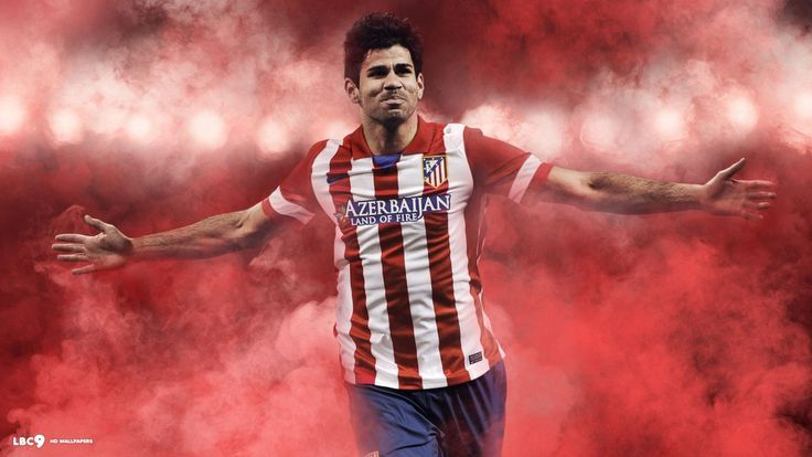 Diego Costa Atletico Madrid  - http://www.wallpapersoccer.com/diego-costa-atletico-madrid.html