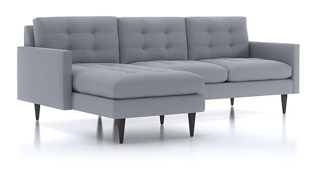 Petrie 2-Piece Left Arm Chaise Midcentury Sectional Sofa ...