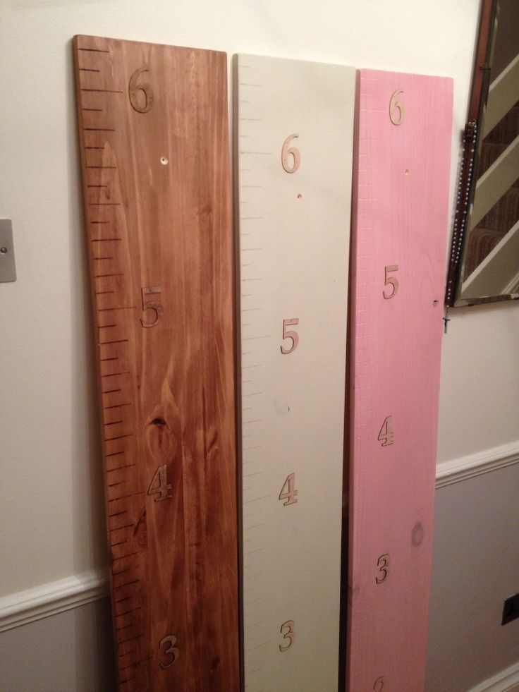 Handmade height charts. Every inch is individually cut with 2mm numbers. The perfect gift for friends or families children and something that can be kept forever, and unlike the door frame this can be taken with you if you move. Available from Frederick designs at £40