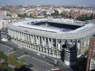 Estadio Santiago Bernabeu, Madrid, España