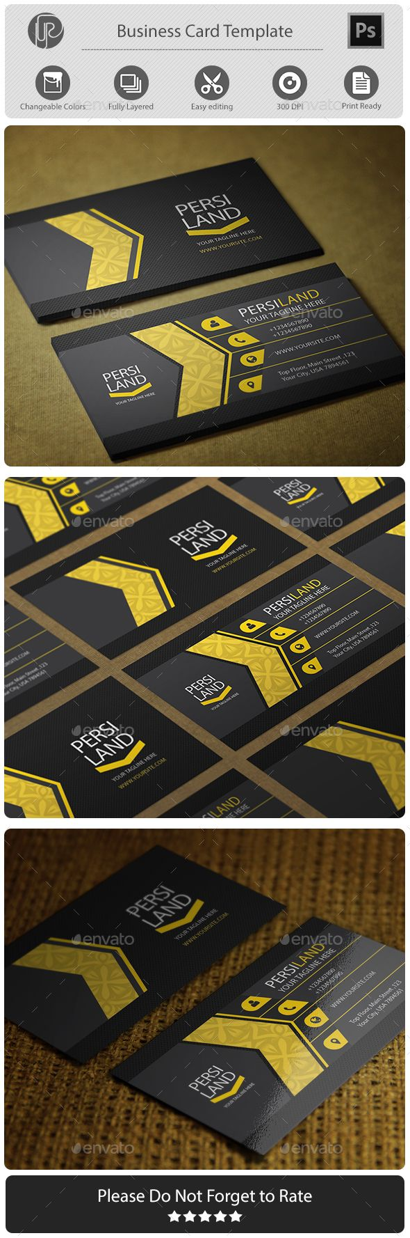 Personal Yellow - Creative Business Cards Download here:  https://graphicriver.net/item/personal-yellow/19876741?ref=alena994