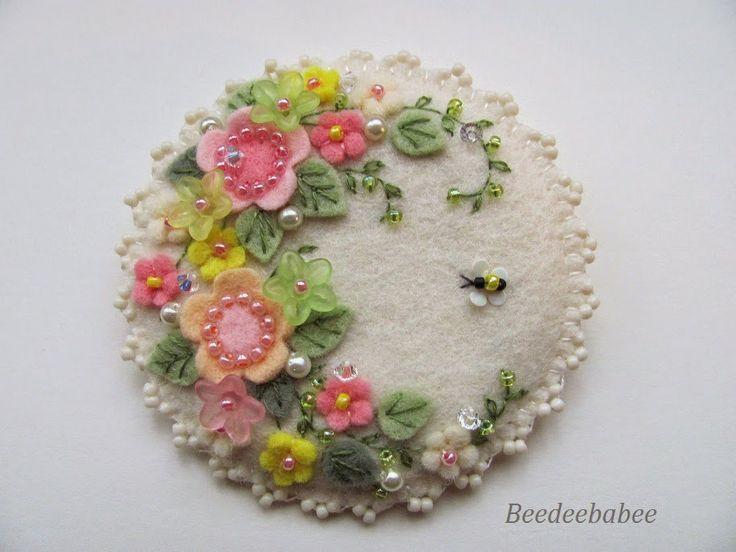 round springtime pin