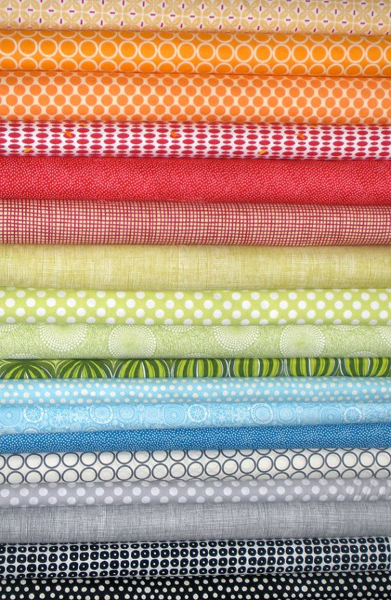 A fun stack of fabric ...  yes please...with a Sew Cherry on top!!!!