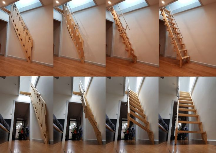 Best Bcompact's Hybrid Stairs Fold Flat To Provide More Living Space Loft Stairs Stairs Staircase 400 x 300